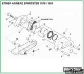 ECLATE G - PIECE N° 00 - ECLATE DES PIECES D'ETRIER DE FREIN ARRIERE SPORTSTER 1979 / 1981
