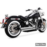 ECHAPPEMENT VANCE & HINES - BIGSHOTS STAGGERED - SOFTAIL M8 2018UP - CHROME - 17941