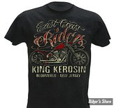 TEE-SHIRT - KING KEROSIN - KK - EAST COAST RIDERS - COULEUR : NOIR - TAILLE 4 / L