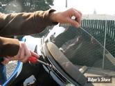 """PARE BRISE - WINDVEST MOTORCYCLE PRODUCTS - FLTR 98/13 - HAUTEUR :12"""" - COULEUR : Fumé"""