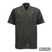 CHEMISE - DICKIES - 1574 - SHORT SLEEVE WORK SHIRT - COULEUR : VERT OLIVE - TAILLE L