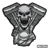 """ECUSSON/PATCH - LETHAL THREAT - LT SKULL MOTOR PATCH - TAILLE : 11"""" X 11.5"""" ( 27.94 CM X 29.21 CM )"""