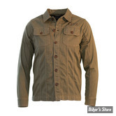 CHEMISE MANCHES LONGUES - DICKIES - SACRAMENTO SHIRT - COULEUR : POURPRE - TAILLE : 2/S
