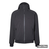 SWEAT SHIRT ZIPPE - JOHN DOE - SOFTSHELL HOODIES BLACK - COULEUR : NOIR - TAILLE 4 / L
