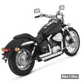 ECHAPPEMENT VANCE & HINES - SHORTSHOT STAGGERED - HONDA 750 SHADOW 04UP - CHROME - 18419