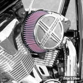 "FILTRE A AIR - BARON CUSTOM ACCESSORIES - BIG AIR KIT ""XXX"" - HONDA VT 1300 CX FURY / STATELINE / SABRE / INTERSTATE 10UP - CHROME"