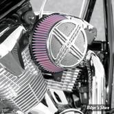 "FILTRE A AIR - BARON CUSTOM ACCESSORIES - BIG AIR KIT ""XXX"" - YAMAHA XVS 650 VSTAR 98/11 - CHROME"