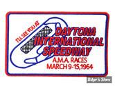 """ECUSSON/PATCH - V-TWIN - DAYTONA RACE - TAILLE : 3.5"""" X 2.2"""" ( 8.90 CM X 5.60 CM ) - LA PAIRE"""