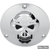 COUVERCLE D EMBRAYAGE - BIG TWIN 70/99 - SKULL - CHROME