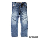 PANTALON - JOHN DOE - JEANS WITH KEVLAR LINING - COULEUR : STONEWASHED BLUE - TAILLE US 36/32