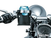"PORTE GOBELET/BOUTEILLE - KURYAKYN - Beverage Carrier Universal Drink Holders - POUR GUIDON DE 1"" - CHROME - 1488"