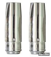 ECLATE N - PIECE N° 21 - TUBES DE FOURCHES CHROMES 35MM XL83/86 / FXR84UP - 33 1/4 - CUSTOM CYCLE ENGINEERING - SHOW CHROME