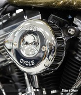 - FILTRE A AIR - S&S - STEALTH - TOURING 02/07 / SOFTAIL 01/15 / DYNA 04/17 - TEARDROP MINI AIR CLEANER KIT - CHROME - 170-0441