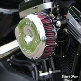 SS - KIT FILTRE A AIR SS - TEARDROP - MINI TEARDROP STEALTH AIR CLEANER KIT - SPORTSTER 91/03 A CARBURATEUR S&S - CHROME - 170-0447