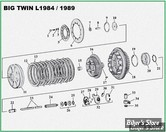 ECLATE A - PIECE N° 00 - ECLATE EMBRAYAGE - BigTwin 84/89