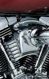 CACHE CORPS D'INJECTION - KURYAKYN - TOURING 08/16 /SOFTAIL 16UP - FILTRE AFTERMARKET - CHROME - 8659