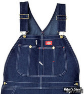 SALOPETTE - DICKIES - BIB OVERALL - JEANS - COULEUR : BLEU INDIGO - TAILLE US 42/32
