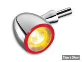 CLIGNOTANT A LEDS -   KELLERMANN - BULLET DF 1000 - 3 FONCTIONS - Finition : Chrome - LA PIECE