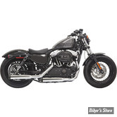 "SILENCIEUX BASSANI - FIREPOWER - 3"" - SPORTSTER 2014UP - CHROME / Embout Contrasting Flutes NOIR"
