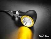 CLIGNOTANT A LEDS -   KELLERMANN - BULLET PL 1000 - 2 FONCTIONS - FINITION : NOIR / LED JAUNE - 181.200 - LA PIECE