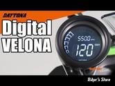 -  VELONA - COMPTEUR / COMPTE TOURS VELONA / DAYTONA - DIGITAL 60MM SPEEDOMETER/TACHOMETER - 85836