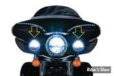 4 1/2 - CERCLAGES AVEC ECLAIRAGE - KURYAKYN - ECLAIRAGE LED HALO TRIM RING - CORPS : NOIR - 7748