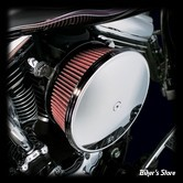 - FILTRE A AIR - ARLEN NESS - BIG SUCKER AIR FILTER KIT AVEC COUVERCLE - STAGE 2 - TOURING 02/07 / SOFTAIL 01/15 / DYNA 04/17 / TWINCAM CARBU CV 99/06 - FILTRE STANDARD - LISSE CHROME - 18-818