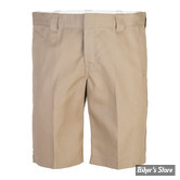 "SHORT - DICKIES - 11"" - SLIM STRAIGHT WORK SHORTS - COULEUR : KAKI - TAILLE 34"