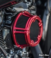 KIT FILTRE A AIR A.NESS - SOFTAIL 18UP / TOURING 17UP - NESS METHOD CLEAR SERIES AIR CLEANER - Arlen Ness Anodized Collection -  ROUGE ANODISE - 18-170