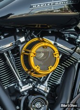 KIT FILTRE A AIR A.NESS - SOFTAIL 18UP / TOURING 17UP - NESS METHOD CLEAR SERIES AIR CLEANER - Arlen Ness Anodized Collection - GOLD ANODISE - 18-175