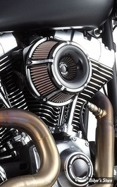 - FILTRE A AIR - ARLEN NESS - TOURING 08/16 / SOFTAIL 16/17 / DYNA FXDLS 16/17 - INVERTED - SLOT TRACK - NOIR ANODISEE - 18-921