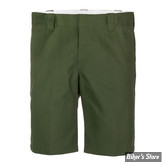 "SHORT - DICKIES - 11"" - SLIM STRAIGHT WORK SHORTS - COULEUR : OLIVE GREEN - TAILLE 33"