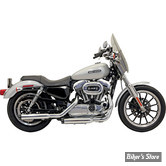 "SILENCIEUX BASSANI - FIREPOWER - 3"" - SPORTSTER 04/13 - STRAIGHT CUT AVEC EMBOUT FLUTED CONTRAST CUT - CHROME"