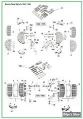 ECLATE Y - PIECE N° 00 - ECLATE DES PIECES DE PLATEFORMES AVANT - BIGTWIN 1940 / 1984