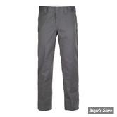 PANTALON - DICKIES - 873 - SLIM STRAIGHT WORK PANTS - COULEUR : CHARCOAL GREY - TAILLE 30/32