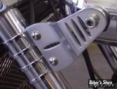 Pattes de fixations de phare - Lateral - Striker Slotted - 55/58mm - Alu naturel