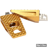 """REPOSES PIEDS AVANT - SOFTAIL 2018UP  - THRASHIN SUPPLY COMPAGNY - P-54 EXTRA GRIP FOOTPEGS - 2.25"""" - GOLD"""
