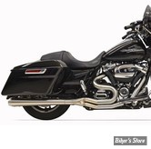 ECHAPPEMENT - BASSANI - TOURING 17UP MILWAUKEE-EIGHT® - ROAD RAGE III LONG 2-INTO-1 SYSTEMS - MEGAPHONE - LONG / INOX BROSSE
