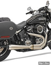 ECHAPPEMENT - BASSANI - SOFTAIL FLSB SPORT GLIDE 18UP - ROAD RAGE  2-INTO-1 SYSTEM - MEGAPHONE - INOX / STAINLESS