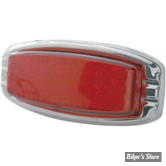 PO- FEUX ARRIERE PRO ONE - RECTANGULAR FLUSH-MOUNT LED TAILLIGHTS 15 X 61 - CABOCHON : ROUGE