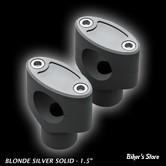 """RISERS FIGURE MACHINE - CLEAN RISERS - HAUTEUR : 4.5"""" - BLONDE SILVER"""