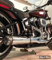 ECHAPPEMENT SUPERTRAPP - 2 EN 1 FATSHOTS - SOFTAIL 18UP - CHROME - 828-74684