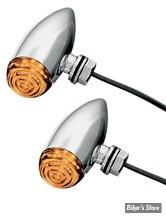 CLIGNOTANT A LEDS - MICRO BULLET / CLIGNOS MICRO BULLET - KURYAKYN - LED - CHROME / Cabochon : ORANGE