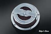 KIT FILTRE A AIR KURYAKYN - XLH 91/06 - BAHN AIR CLEANER - FINITION : CHROME - 9583