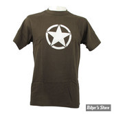 TEE-SHIRT - FOSTEX - VINTAGE - WHITE STAR - COULEUR : GREEN / VERT - TAILLE 4 / L