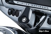 COUVRE CONTACTEUR DE TOURING - KURYAKYN- TOURING 14UP- Sculpted Ignition Switch Covers - CHROME / NOIR - 6993
