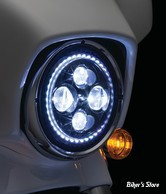 "7"" - OPTIQUE LED - KURYAKYN - ORBIT VISION  7"" LED HEADLIGHT - AVEC HALO ECLAIRAGE BLANC - 2460"