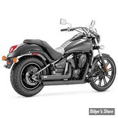 ECHAPPEMENT VANCE & HINES - TWIN SLASH STAGGERED - KAWASAKI 900 VN VULCAN 06UP - NOIR
