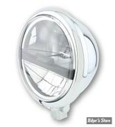 """5 3/4 - PHARE LED - HIGHSIDER - Bates Style Type 5 Headlamp, 5 3/4"""" - ECLAIRAGE LED - CHROME"""