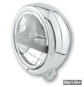 5 3/4 - PHARE LED - HIGHSIDER - Pecos Type 5 Headlamp - ECLAIRAGE LED - CHROME -